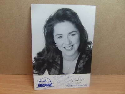 £6.20 • Buy Channel 4 – Brookside – Claire Sweeney Hand-signed Photo-Card C1990s