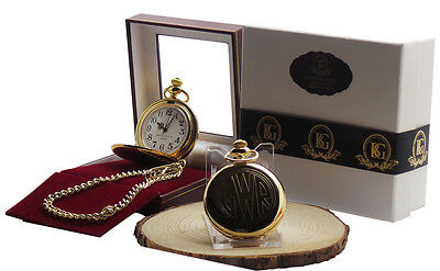 £25.95 • Buy Great Western Railway Pocket Watch And Chain Luxury Gift Case GWR 24k Coated