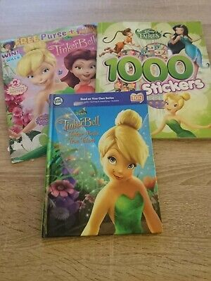 £3 • Buy Tinkerbell Book Bundle Leap Frog Tag Sticker Book