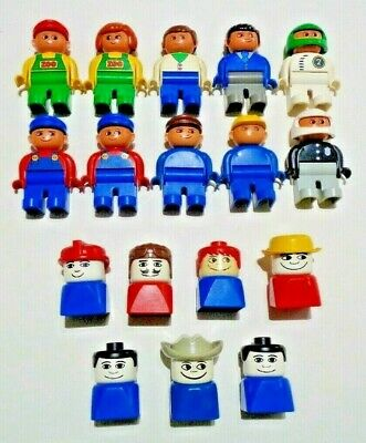 AU100 • Buy Lego Duplo Mixed Vintage People Bulk Lot Of 17 In Good Condition Free Post