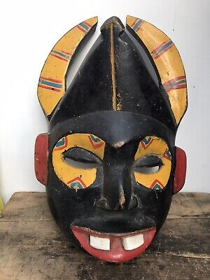 £40 • Buy Carved And Painted African Tribal Art Face Mask