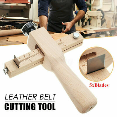 £10.69 • Buy Wooden Strip Strap Belt Cutter Leather Hand Cutting Craft Tool With 5 Blade