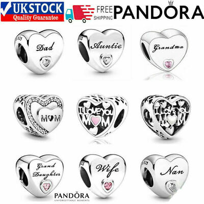 £10.98 • Buy New Genuine Silver Pandora Moments Daughter Wife Auntie Mum Charms S925 Ale
