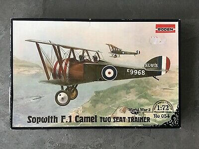 £4.50 • Buy Roden 1/72 Sopwith F.1 Camel Two Seat Trainer Model Kit
