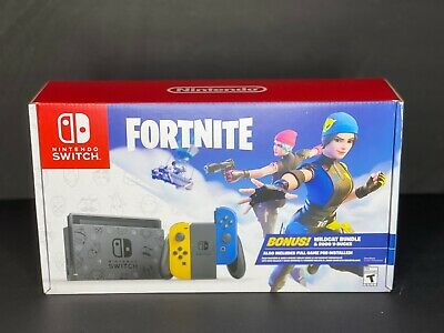 $359.99 • Buy New Nintendo Switch Fortnite Wildcat Bundle - Console ONLY - NO Code Included