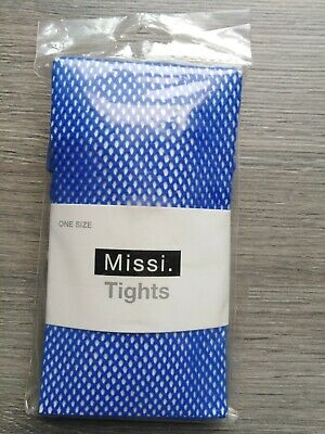£4 • Buy Missi Blue Net Tights - One Size