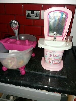 £10.50 • Buy Baby Born Wash Time Bath Tub For Dolls With Lights And Sounds
