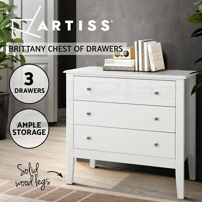 AU183.95 • Buy Artiss Chest Of Drawers Storage Cabinet Bedside Table Dresser Tallboy White