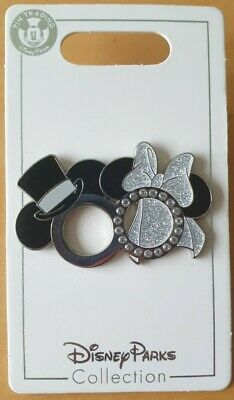 £10.95 • Buy Disney Parks Minnie And Mickey Wedding Rings Disney Pin Marriage Ring #115102