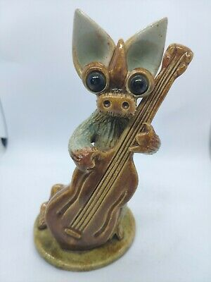 £25.99 • Buy Yare Designs Pottery England Dragon With Double Bass - See Description