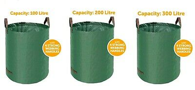 £6.95 • Buy Garden Waste Bags Large Heavy Duty Refuse Sacks With Handles 100/200/300 Litres