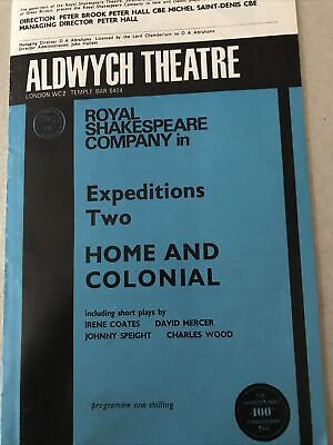 £2 • Buy HOME AND COLONIAL Stars Tim West & Elizabeth Spriggs RSC @ The Aldwych Programme
