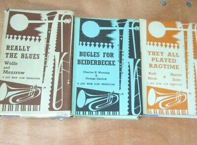 £18 • Buy Bundle 3, Jazz Book Club, Bugles For Beiderbecke,22, Really The Blues,16 & They