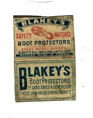 £5.50 • Buy 1 Old Russia C 1900s (2 Panels) Matchbox Label Blakey's Boot Protectors 1D Card.