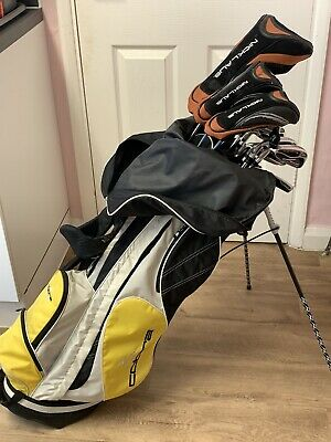 AU249.11 • Buy *Mens Quality Left Handed Set Of Nicklaus Polarity MTR Golf Clubs + Stand Bag*