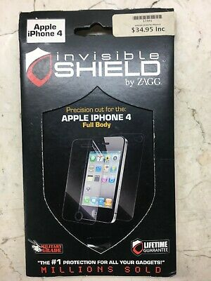 £5.43 • Buy Invisible Shield By ZAGG_iPhone 4 Full Body Protector_Lifetime Guarantee_New