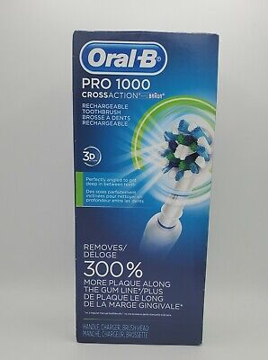 AU54.74 • Buy Oral-B Pro 1000 Crossaction Rechargeable Electric Toothbrush Powered By Braun
