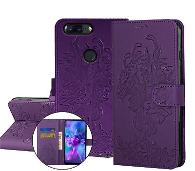 AU7.95 • Buy One Plus 5T Embossed Pu Leather Wallet Case Floral & Tiger