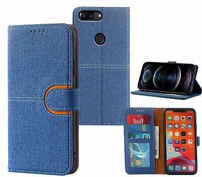 AU7.45 • Buy One Plus 5T Pu Leather Wallet Case Canvas Finish Combined