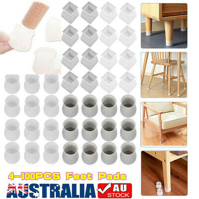AU12.99 • Buy 4-100PCS Silicone Chair Leg Caps Floor Protector Furniture Table Cover Feet Pads