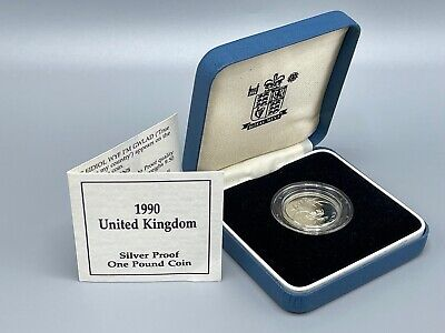 £4.70 • Buy 1990 Silver Proof £1 Royal Mint Box And COA 1 Pound