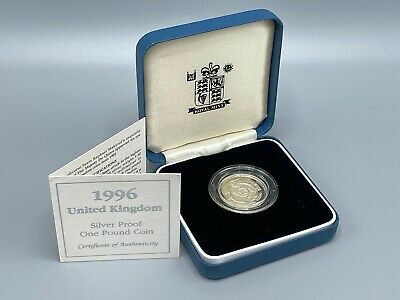 £6.50 • Buy 1996 Silver Proof £1 Royal Mint Box And COA 1 Pound