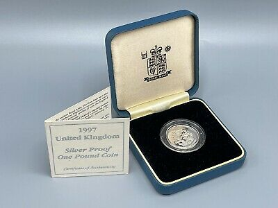 £0.99 • Buy 1997 Silver Proof £1 Royal Mint Box And COA 1 Pound