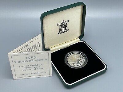 £12.50 • Buy 1995 Silver Proof £2 Dove Of Peace Coin Royal Mint Box And COA 2 Pound
