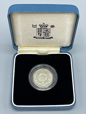 £0.99 • Buy 2001 Silver Proof £1 Special Frosted Finish Coin Royal Mint Box And COA 1 Pound