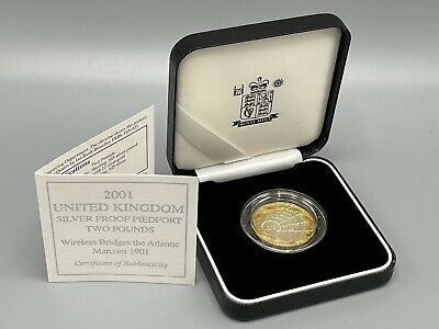 £17 • Buy 2001 Silver Proof Piedfort £2 Marconi 1901 2 Pound Royal Mint Box And COA
