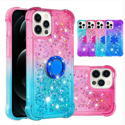 AU9.06 • Buy For IPhone 12 11 Pro Max XR X SE2 8 7 Plus Liquid Glitter Bling Stand Case Cover