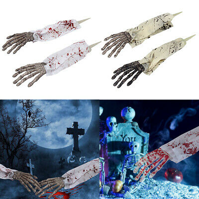 £5.99 • Buy Halloween Skeleton Arms Witch Hands Horror Props House Escape Scary Decoration