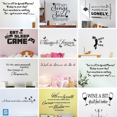 £7.51 • Buy English Words /Sentence Removable Art Vinyl Wall Stickers Home Decor Mural Decal