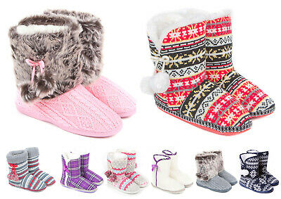 £12.99 • Buy Ladies Slip On Boot Slippers Size 3 To 8 UK - WARM BOOTIE CHRISTMAS XMAS GIFT