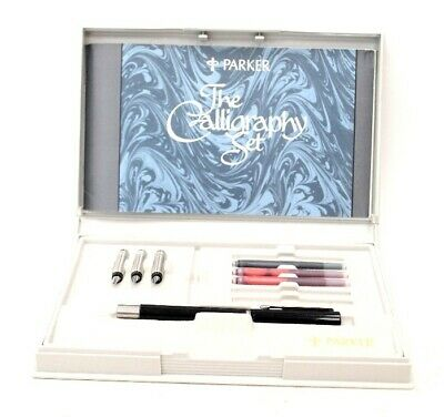 £9.99 • Buy VTG. PARKER The Calligraphy Set FOUNTAIN PEN W/Box, Ink, Nibs -W46