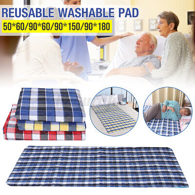 £9.90 • Buy Waterproof Incontinence Bed Urine Pad Sheet Mattress Reusable Washable  *k Z
