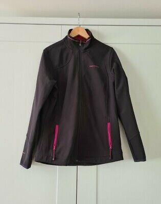 £0.99 • Buy Craghoppers Womens Black Soft Shell Jacket Size 12 With Magenta Lining