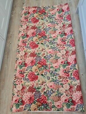 £63.50 • Buy Sanderson Rose & Peony Lined Curtain  Vintage Pink Red Fabric Long 73  W X 70 L