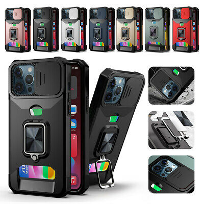 AU7.98 • Buy Shockproof Ring Case For IPhone 13/12/11/Pro Max 6s 7 8 Card Holder Camera Cover