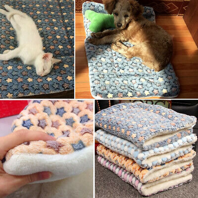 £8.49 • Buy Pet Blanket Cat Dog Bed Cushion Mattress Kennel Soft Crate Mat Home Washable