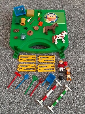 £10 • Buy Playmobil Horse Show Jumping Riding Pony Farm Carry Case Animal Accessories 5893