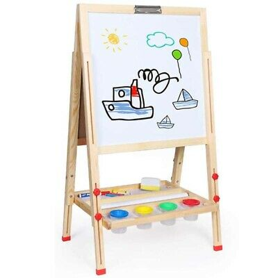£18.99 • Buy Adjustable Magnetic Wooden Art Easel Double-Sided Painting Board W/Accessories
