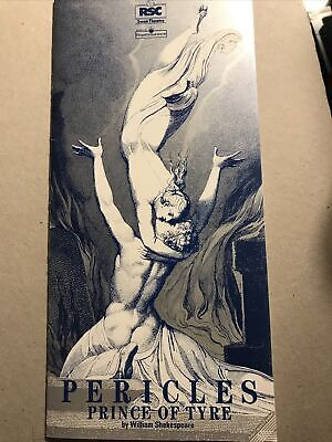£2 • Buy PERICLES PRINCE OF TYRE The RSC At The Swan 1989 Programme
