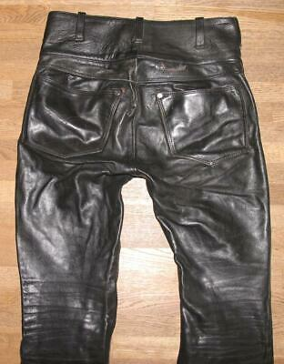 £20.73 • Buy   Finished   Men - Leather Jeans Biker Trousers Black Approx. W31   / L30   High