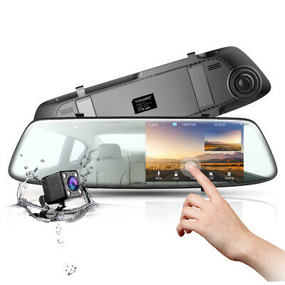 AU66.49 • Buy 4.3  Mirror Dash Camera Front And Rear Car Cam DVR Recorder 1080P Touch Screen