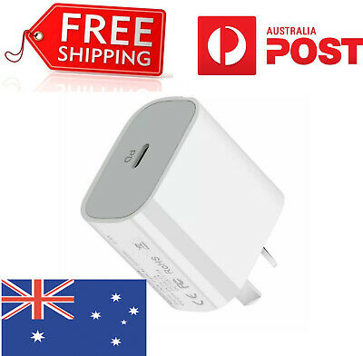 AU11.94 • Buy AU Plug PD 20W USB-C Type C Fast Wall Charger Cable Adapter For IPhone XS/12 11