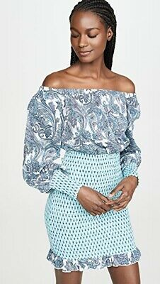 AU70 • Buy Tigerlily Off The Shoulder Paisley Cotton Dress Never Worn SZ14 Immaculate Blue