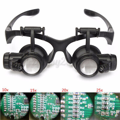 £11.49 • Buy 10X-25X Magnifier Magnifying Eye Glass Loupe Jeweler Watch Repair With LED Light