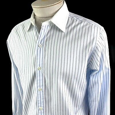 £25.57 • Buy Brooks Brothers French Cuff Blue Striped Shirt Size 16 - 33