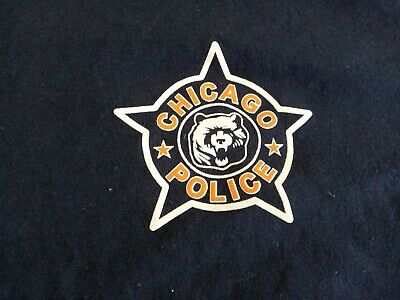 £4.38 • Buy CHICAGO POLICE, CHICAGO BEARS, DOUBLE SIDED, T-SHIRT, LARGE BLUE, 100% Cotton.